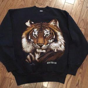 Vintage Toronto Zoo Tiger Sweater size Large king